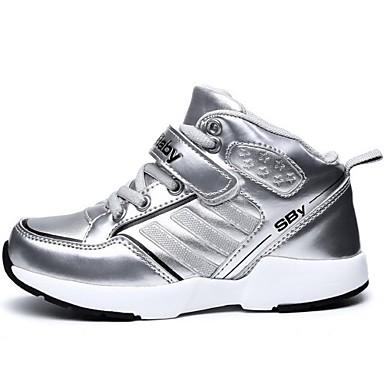 Genç Kız Ayakkabı Kırpma Kış Rahat Spor Ayakkabısı Düz Topuk Bootiler/ Bilek Botları Uyumluluk Atletik Pembe Gümüş Mavi Sarı