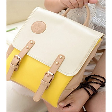 Women's Bags PU Backpack for Casual All Seasons Purple Yellow Blue Pink