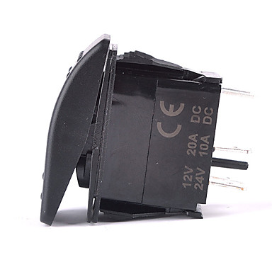 Iztoss 5Pin LASER TRAY Rocker Switch ON-OFF LED Light 20A 12V Blue with wires to install