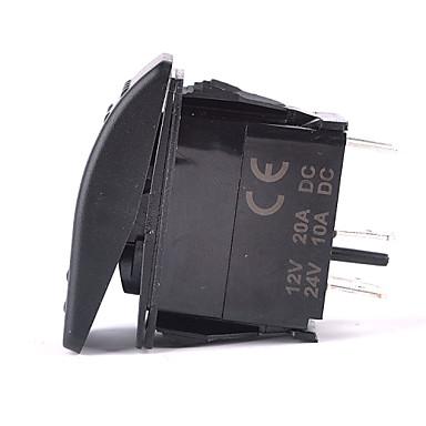 iztoss 5pin lézeres ködlámpa billenkapcsolót on-off led 20a 12v kék vezetéket telepíteni