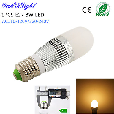 E14 LED kukorica izzók T 28 led SMD 2835 Dekoratív Meleg fehér 700lm 3000K AC 220-240 AC 110-130V