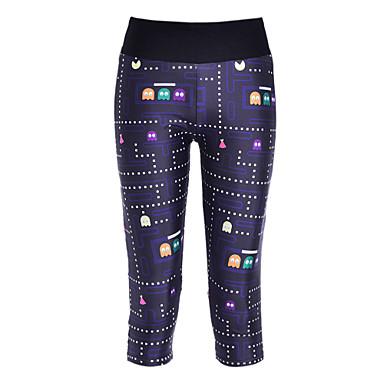 Kadın's Unisex Legginsy do biegania Spor Taytları Sıkıştırma Stretch 3/4 Tayt Pantalonlar Tozluklar Alt Giyimler Yoga Fitness Koşma