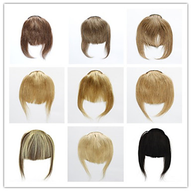 povoljno Konjski repići-Trustfire S kopčom Proširenja ljudske kose Ravan kroj Klasika Ljudska kosa Šiške Nano Bež plavuša / Bleached Blonde