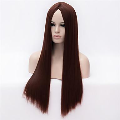 Sentetik Peruklar Sentetik Saç Peruk Kadın's Uzun Bonesiz