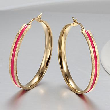Women`s  Party  Work  Casual Titanium Steel Drop Earrings