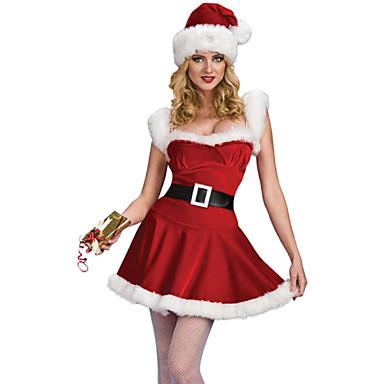 Mikulás ruhák Szerepjáték Jelmezek Jelmez Bulikra Női Karácsony Mindszentek napja Fesztivál / ünnepek Mindszentek napi kösztümök Piros