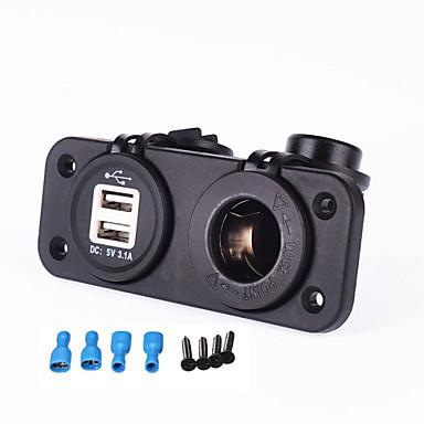 voordelige Automatisch Electronica-iztoss autolader 12-24v sigarettenaansteker 5v 3.1a dubbele usb-adapter voor motorfiets