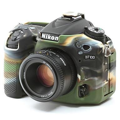 dengpin® puha szilikon páncél bőr gumi kamera tok táska Nikon D7100 D7200