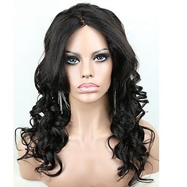 인모 전체 레이스 전면 레이스 가발 물결 130 % 밀도 100% 핸드 타이드 흑인 가발 자연 헤어 라인 짧음 보통 긴 여성용 인모 레이스 가발