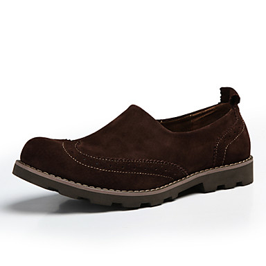 Men's Shoes Casual Suede Loafers / Slip-on Brown / Green / Khaki