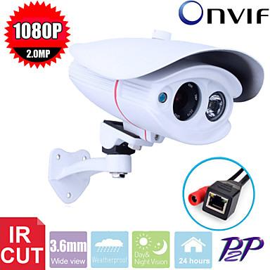 CCTV CMOS 2 MP HD 1080p vodootporne 2pcs array LED-IR-cut nadzor 3.6mm IP kamera kamera
