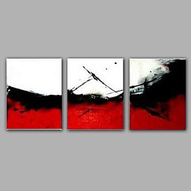 3 conjuntos de cores vermelho e branco pintado à mão imagens