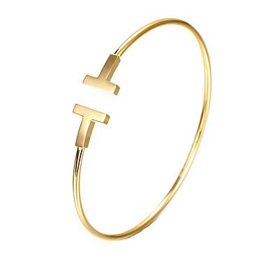Aço Inoxidável 18k Ouro Pulseiras Algema - Original Festa Trabalho Casual Fashion Outros Dourado Prata Ouro Rose Pulseiras Para Presentes