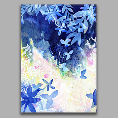 Hand-Painted Abstract Vertical, Style Canvas Oil Painting Home Decoration One Panel