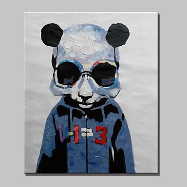 el boyaması soyut hayvan panda, modern koyun yağlıboya, tuval asmak için hazır bir paneli
