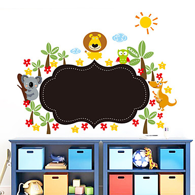 Decorative Wall Stickers - Blackboard Wall Stickers Landscape / Animals / Romance Living Room / Bedroom / Bathroom