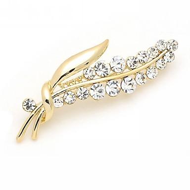 Női Melltűk Luxus Divat Strassz Hamis gyémánt Ötvözet Ezüst Aranyozott Ékszerek Kompatibilitás Esküvő Parti Különleges alkalom