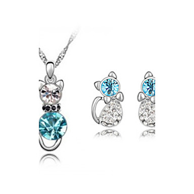 Mulheres Cristal Conjunto de jóias Brincos Colares - Para Casamento Festa Aniversário Noivado Presente Diário Casual