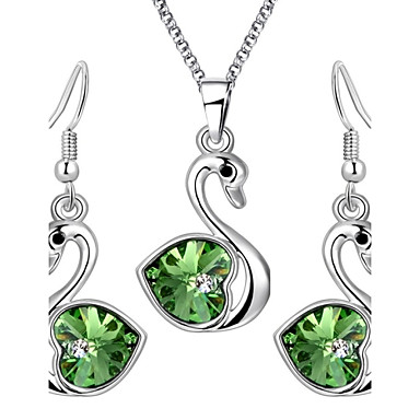 Women's Crystal Alloy Wedding Party Daily Casual Earrings Necklaces Costume Jewelry