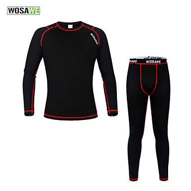 WOSAWE Cycling Base Layer Unisex Long Sleeves Bike Baselayer Compression Clothing Tights Jersey Clothing Suits Bottoms Thermal / Warm