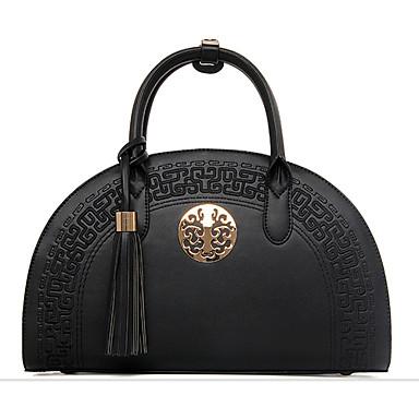 hesapli Toteler-Kadın's Çantalar PU Tote / Omuz çantası Püsküllü için Düğün / Davet / Parti / Alışveriş İlkbahar yaz Bej / Şarap / Haki