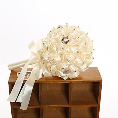Bouquets de Noiva Buquês Casamento Faixa Elástica Poliéster Cetim 14.17