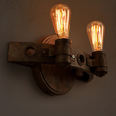 E27 30*20CM 10-15㎡Loft American Creative Restoring Ancient Ways, Wrought Iron Full Moon Machetes Wall Lamp Led Lights