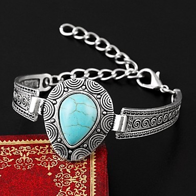 Pulseiras Pulseiras com Pendentes Bracelete Imitação de Pérola Turquesa Pedras dos signos Casamento Festa Diário Casual Jóias Dom Dourado,