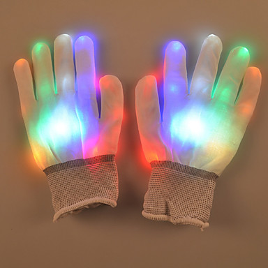 dia presente criativo coloridos luvas de flash palma luminosa rua adereços de dança do Valentim lâmpada de luz LED