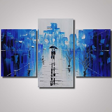 Hand-Painted Landscape Any Shape, Modern Canvas Oil Painting Home Decoration Three Panels