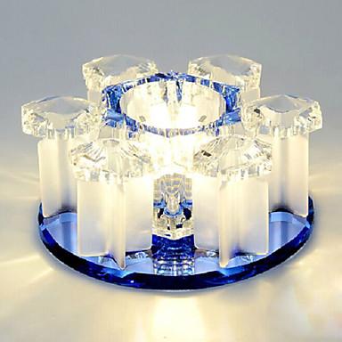 3-Light Flush Mount Ambient Light - Crystal, LED, 220-240V Bulb Included / 10-15㎡