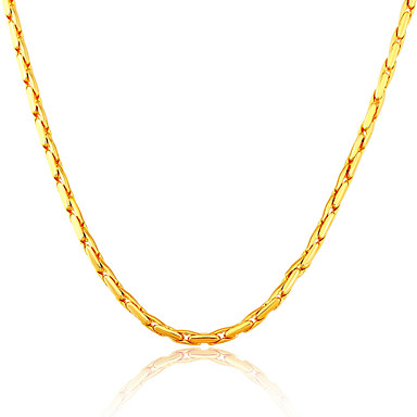 Men's Fashion Chain Necklace Gold Plated Chain Necklace , Wedding Party Daily Casual