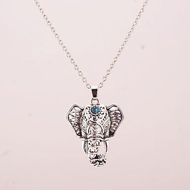 Women's Elephant Animal European Folk Style Pendant Necklace Alloy Pendant Necklace , Party Daily Casual