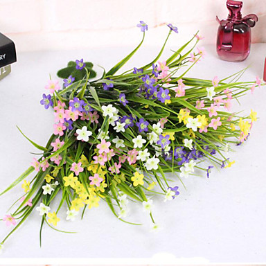 billige Kunstige blomster-Kunstige blomster 1 Gren Enkel Stil Orkideer Bordblomst