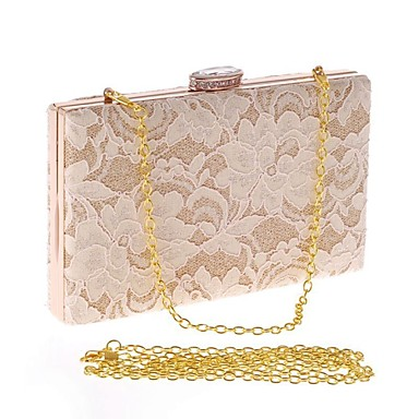 Women Bags All Seasons Polyester Evening Bag Crystal/ Rhinestone for Wedding Event/Party Formal Office & Career Black Almond