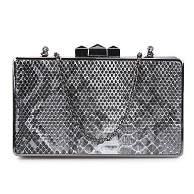Women Bags All Seasons PU Metal Evening Bag with Sequin for Wedding Event/Party Formal Screen Color