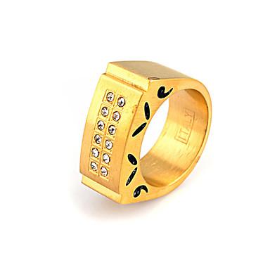 Muškarci Žene Klasično prstenje Tikovina Imitacija dijamanta Kvadrat Geometric Shape Jewelry Vjenčanje Party Dnevno Kauzalni