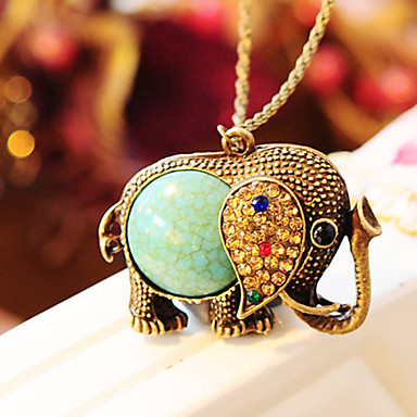 Women's Shape Pendant Necklace Rhinestone Alloy Pendant Necklace Wedding Party Daily Casual