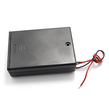 interruptor on / off plástico titular baterias tampa 3x 1.5v aa caixa de caso
