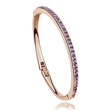 Mulheres Bracelete - Cristal Amor Pulseiras Roxo / Rosa / Arco-Íris Para Casamento / Festa / Diário