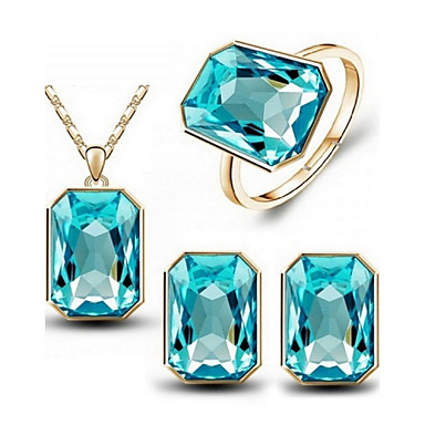 Women's Crystal Wedding Party Daily Casual Rings Earrings Necklaces Costume Jewelry