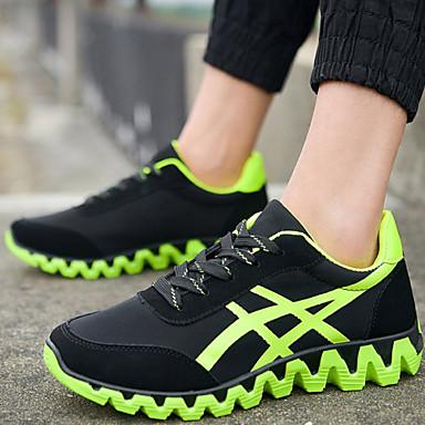 Férfi Futócipő Cipő Szintetikus Zöld / Fehér / Narancssárga