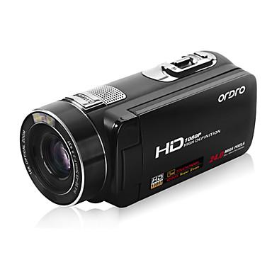 ordro® 1080p câmera de vídeo digital HDV-Z80 / zoom digital 120x&Zoom óptico de 10x / ecrã táctil TFT de 3