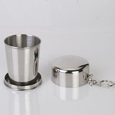 כוס קמפינג יחיד נייד פלדת על חלד ל