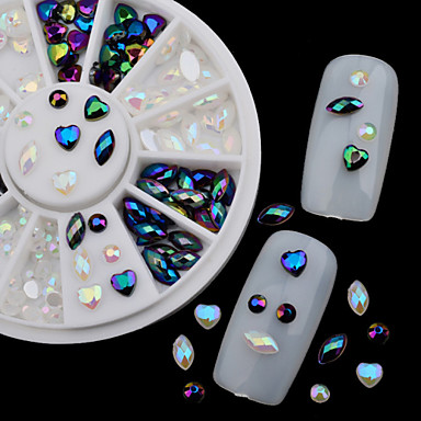 Nail Jewelry / Glitter / Other Decorations-Sarjakuva / Abstrakti / Lovely / Häät-Sormi / Varvas-Akryyli-6*6-1Set