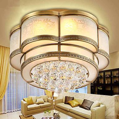 3-אור צמודי תקרה Ambient Light - קריסטל, 220-240V, לבן חם / לבן, LED מקור אור כלול / 10-15㎡ / משולב לד