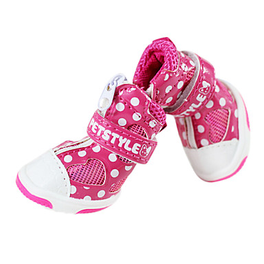 Cachorro Sapatos e Botas Fashion Vermelho Azul Rosa claro