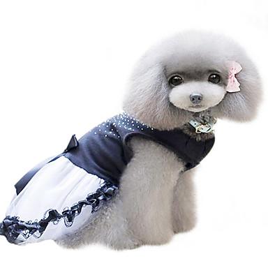 Koira Hameet Koiran vaatteet Muoti Kristalli/Strassi Musta Asu Lemmikit