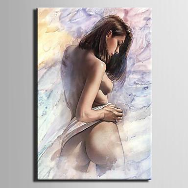 pintura a óleo pintura abstrata pintada à mão com esticado emoldurado
