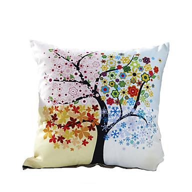 1 kom Polyester Navlaka za jastuk, Cvjetni print Noviteti Ležerne prilike Outdoor Zemlja Modern/Comtemporary